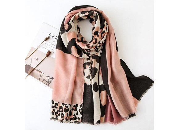LillyCo - Pink Animal Block Scarf