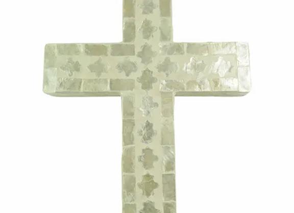 Inlay Cross Ivory Large
