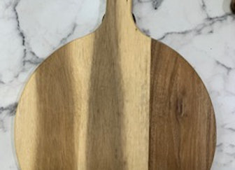 Round Acacia Paddle Serving Board