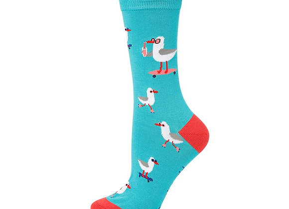 Bamboozld Ladies Sock -Seaside Seagull