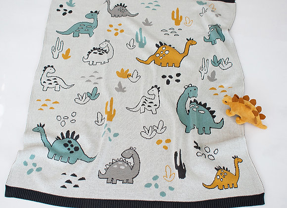 Indus Cotton Blanket Dinosaur