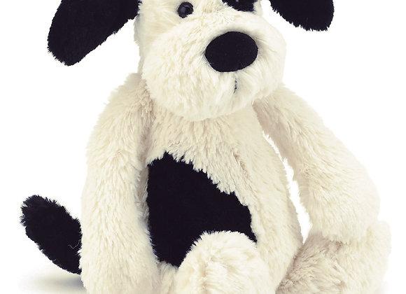 Jellycat Bashful Black & Cream Puppy Small