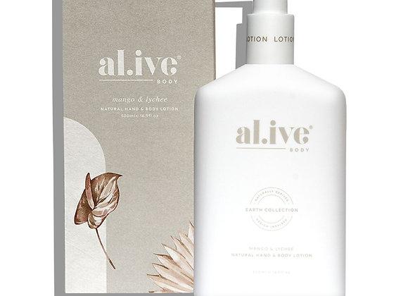 al.ive - Hand & Body Lotion -Mango & Lychee