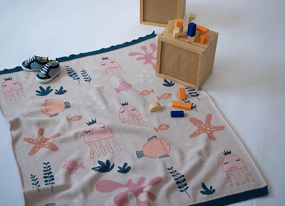 Indus Cotton Blanket - Under The Sea Girl
