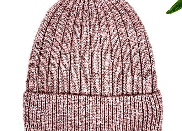 Plain Wool Mix Beanie - Pink