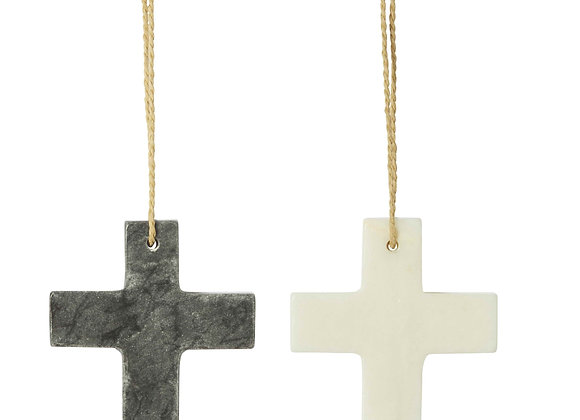 Marble Cross  WHITE