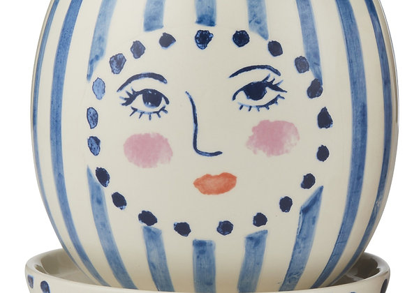 Face Planter Blue / White with dish