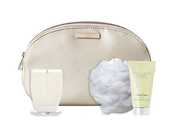 Peppermint Grove - Lemongrass & Lime Beauty Bag Gift Set