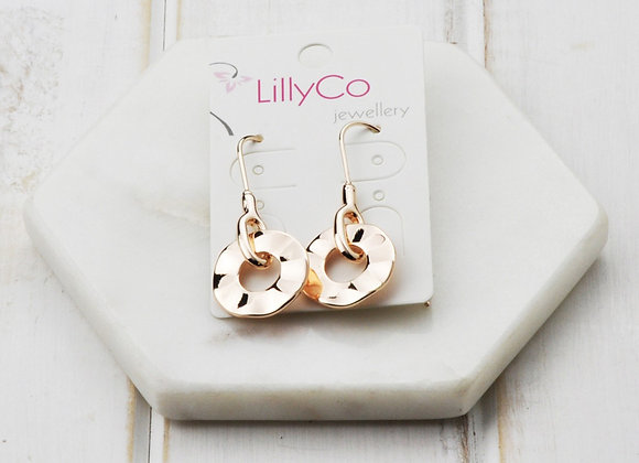 LillyCo - Rose Gold Small Circle Earring