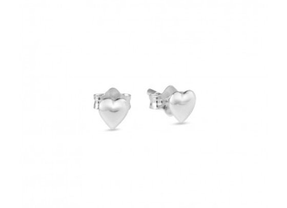 Sterling Silver Heart Stud Earring - 5mm