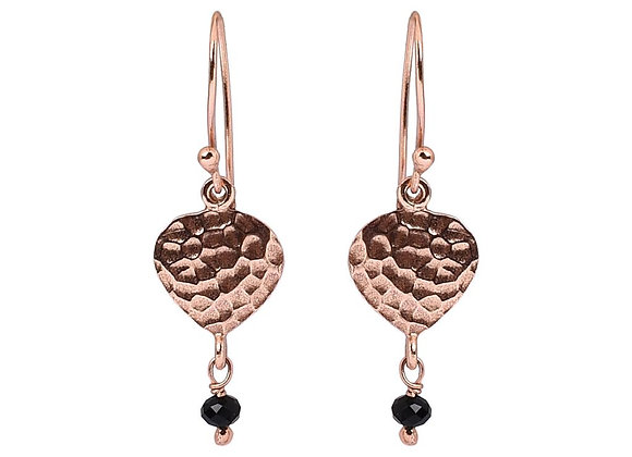 Susan Rose - Eden - Rose Gold Black Onyx Earring