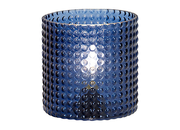 Glass Royal Blue LED Hurricane large