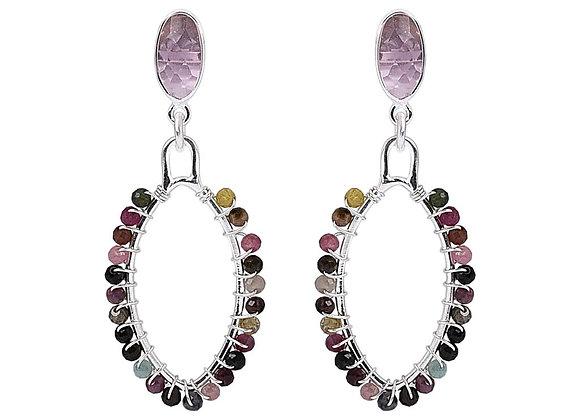 Susan Rose - Gem Drops - Rose Calci/Tourmaline Earring