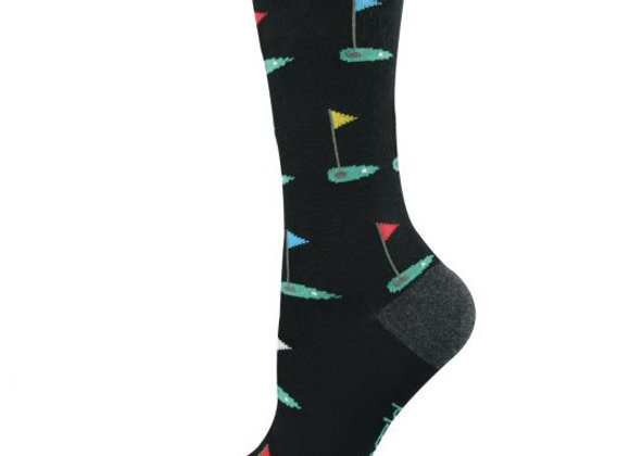 Bamboozld Ladies Sock -Golf green