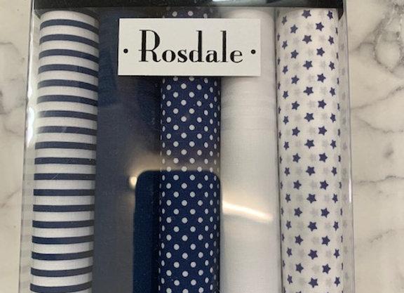 Rosdale Gift Boxed Mens 5 pack Hankies
