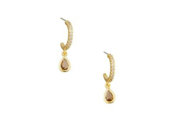 Tiger Tree - Gold&Amber Crystal Drop Earring