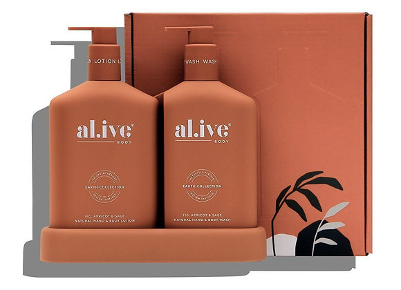 al.ive - Wash & Lotion Duo - Fig Apricot & Sage