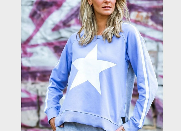 3rd Story - Splice Contrast Star Sweater - Spanish Violet