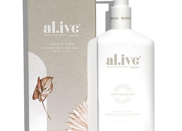 al.ive - Hand & Body Wash - Mango & Lychee Wash