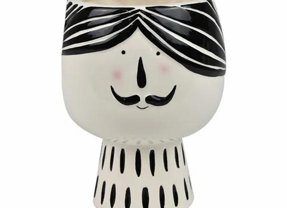 Man Face Ceramic Pot