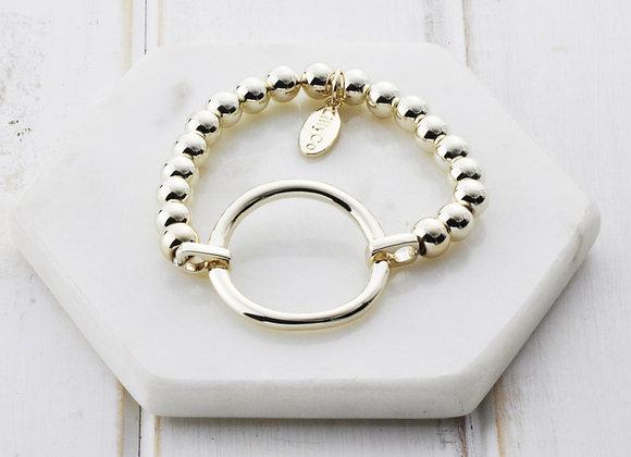 Lilly Co - Gold Ring Pull Bracelet