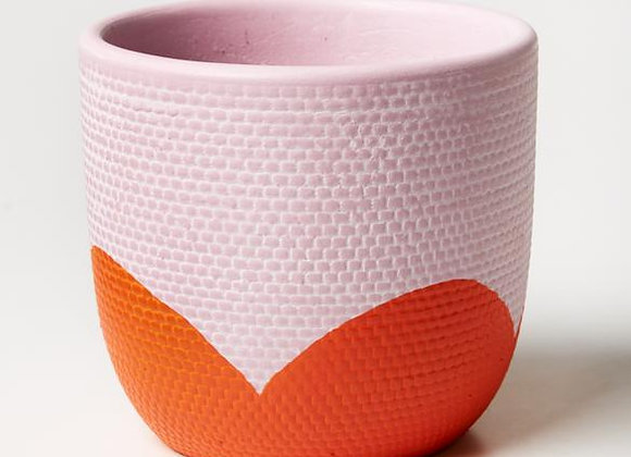 Jones & Co - Petal Lavender Orange Pot
