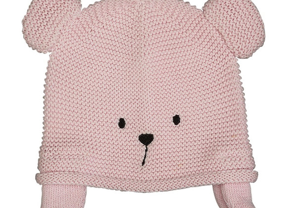 Emotion & Kids - Pink Teddy Knitted Hat