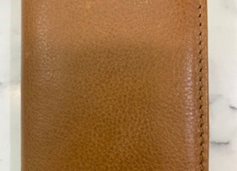 Mens Leather Card Holder - Tan