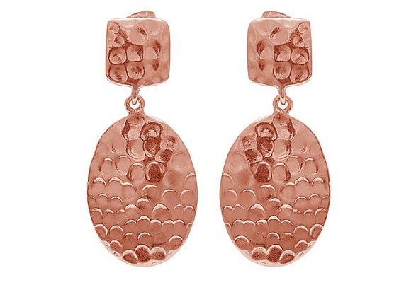 Susan Rose - Delta - Rose Gold Hammered Earring