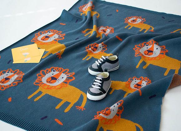 Indus Cotton Blanket - Leroy Lion