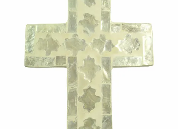 Inlay Cross  Ivory small
