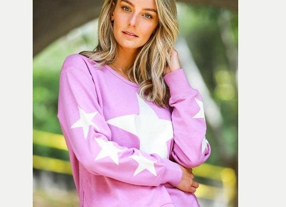 3rd Story - Multi Star X6 Sweater - Magenta