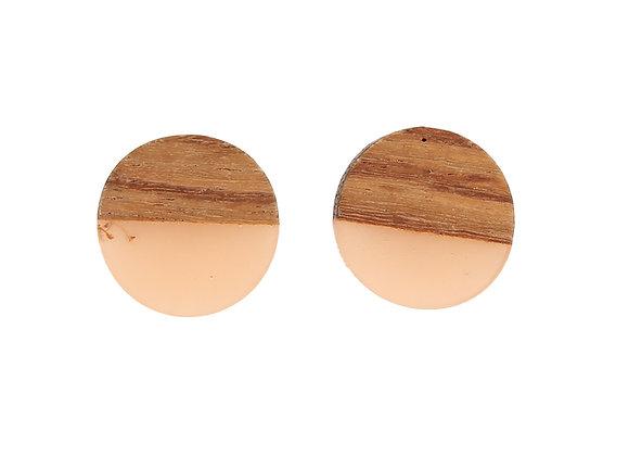 Wood Resin Stud Earring