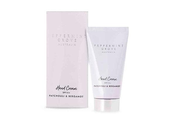 Peppermint Grove - Patchouli & Bergamot Hand Cream Tube 75ml