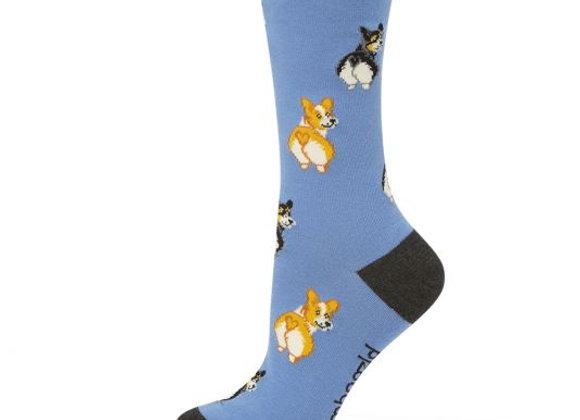 Bamboozld Ladies Sock -Corgi Love