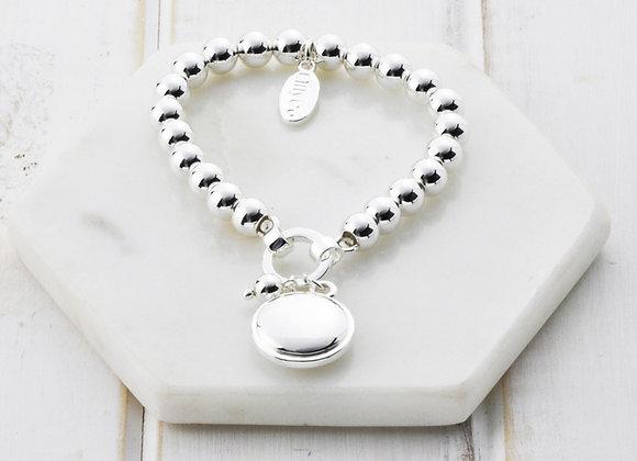 Lilly Co - Silver Disc Bracelet