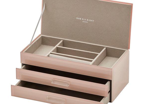 Blush Large Jewellery Box - 3 tier