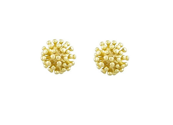 Tiger Tree - Gold Urchin Stud Earring