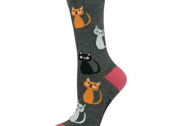 Bamboozld Ladies Sock -Kitty Cat