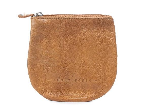 Dusky Robin Leather -Lilly Coin Purse-TAN