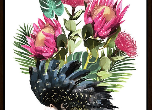 Cockatoo Flower Framed Canvas