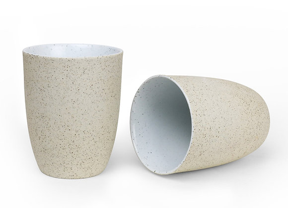 Robert Gordon - Latte Cups Set of 2 - White Granite