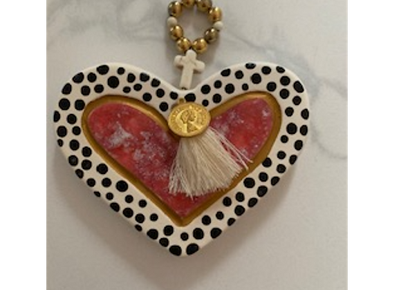 George & Cole - Black Spot Ceramic Heart