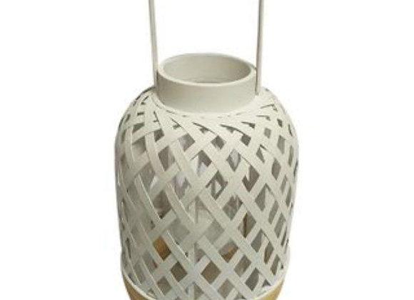Bamboo Lantern small - White/Natural