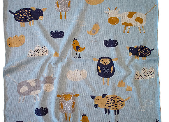 Indus Cotton Blanket - Farmyard
