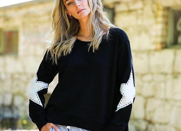 3rd Story - Twin Star Sweater Leopard - Black
