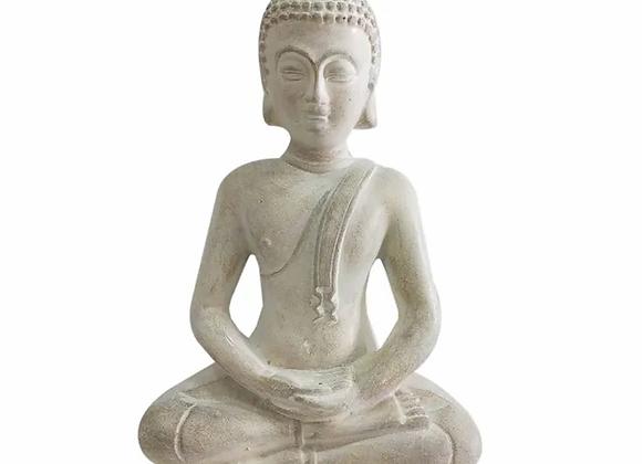 Buddha Resin Sculpture - White