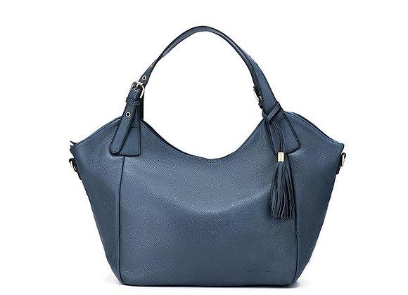Black Caviar Adeline Gunmetal Blue 3 Piece Shoulder Bag Set
