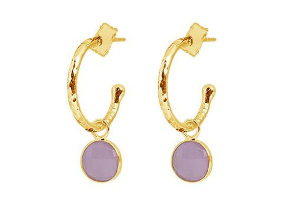 Susan Rose - Soho Gold Hoops - Rose Chalcy