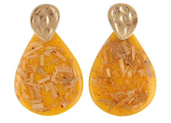 Mustard Resin Earring